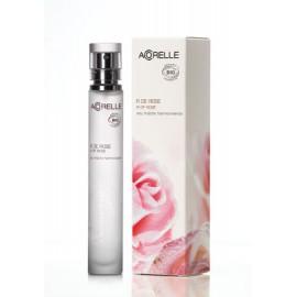 Douceur de rose, eau fraîche harmonisante bio de Acorelle, flacon-spray de 30 ml