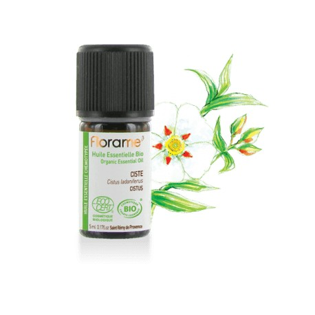 Ciste biologique - cistus ladaniferus - Huile essentielle BIO de Florame, 5 ml