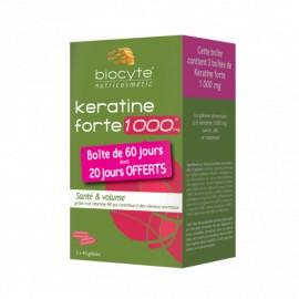 Kératine forte 1000mg de Biocyte écopack 120 gélules dont 40 offertes