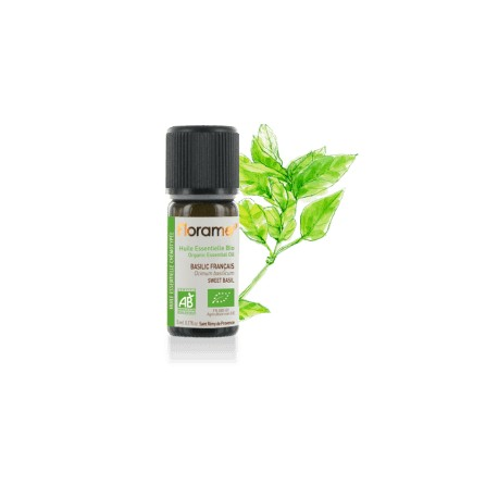 Basilic français biologique - ocimum basilicum - Huile essentielle BIO de Florame, 5 ml