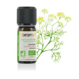 Coriandre biologique, coriandrum sativum, Huile essentielle de Florame, 5 ml