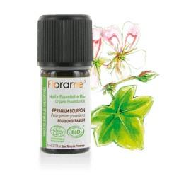 Huile essentielle Géranium bourbon biologique BIO de Florame, 5 ml