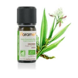 Huile essentielle Gingembre biologique BIO de Florame, 5 ml