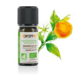 Huile essentielle Mandarine distillée biologique BIO de Florame, 10 ml