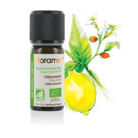 Citron zeste (expressé) biologique - citrus limonum - Huile essentielle de Florame, 10 ml