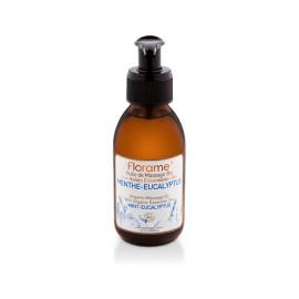 Huile de massage menthe eucalyptus BIO de Florame, 120 ml