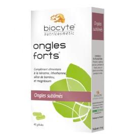 Ongles forts de Biocyte, 40 gélules